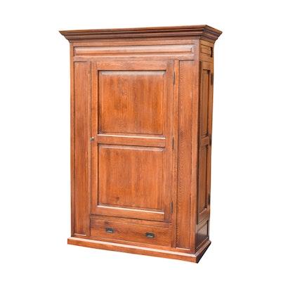 Vintage Oak Paneled Armoire - Online Furniture Auctions Vintage Furniture Auction Antique