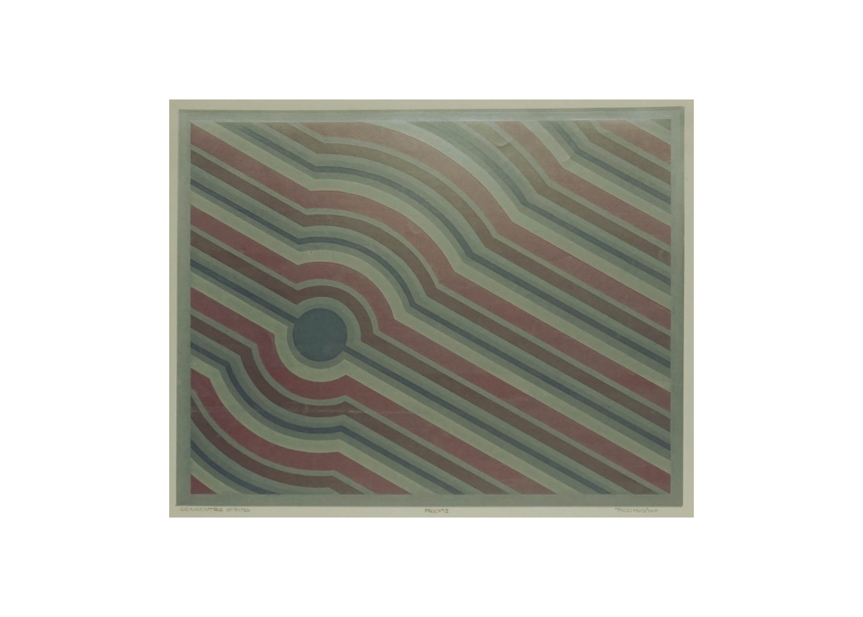 "Signed Limited Edition Serigraph ""Concentric Cirlcles"" by Todd Mozingo"