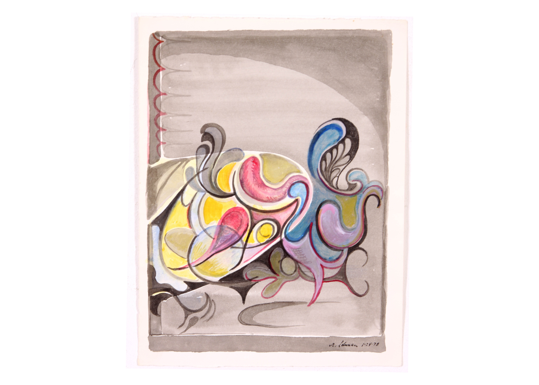 Original Abstract Watercolor by Robert Lohman