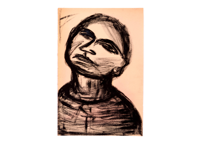 Expressive Portrait of a Man by Jean Margolin