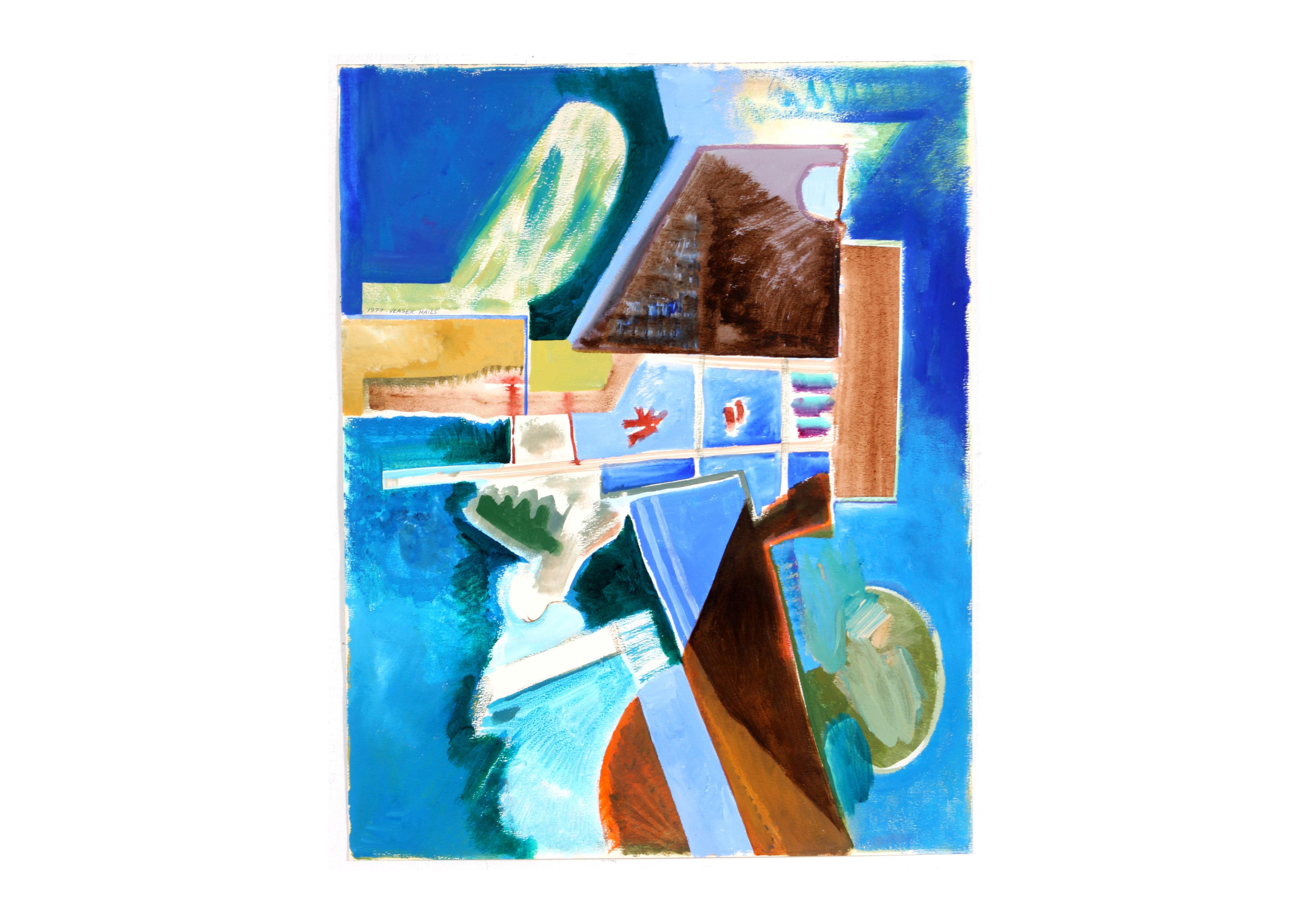 Original Abstract Acrylic Painting by Doris Vlasek-Hails