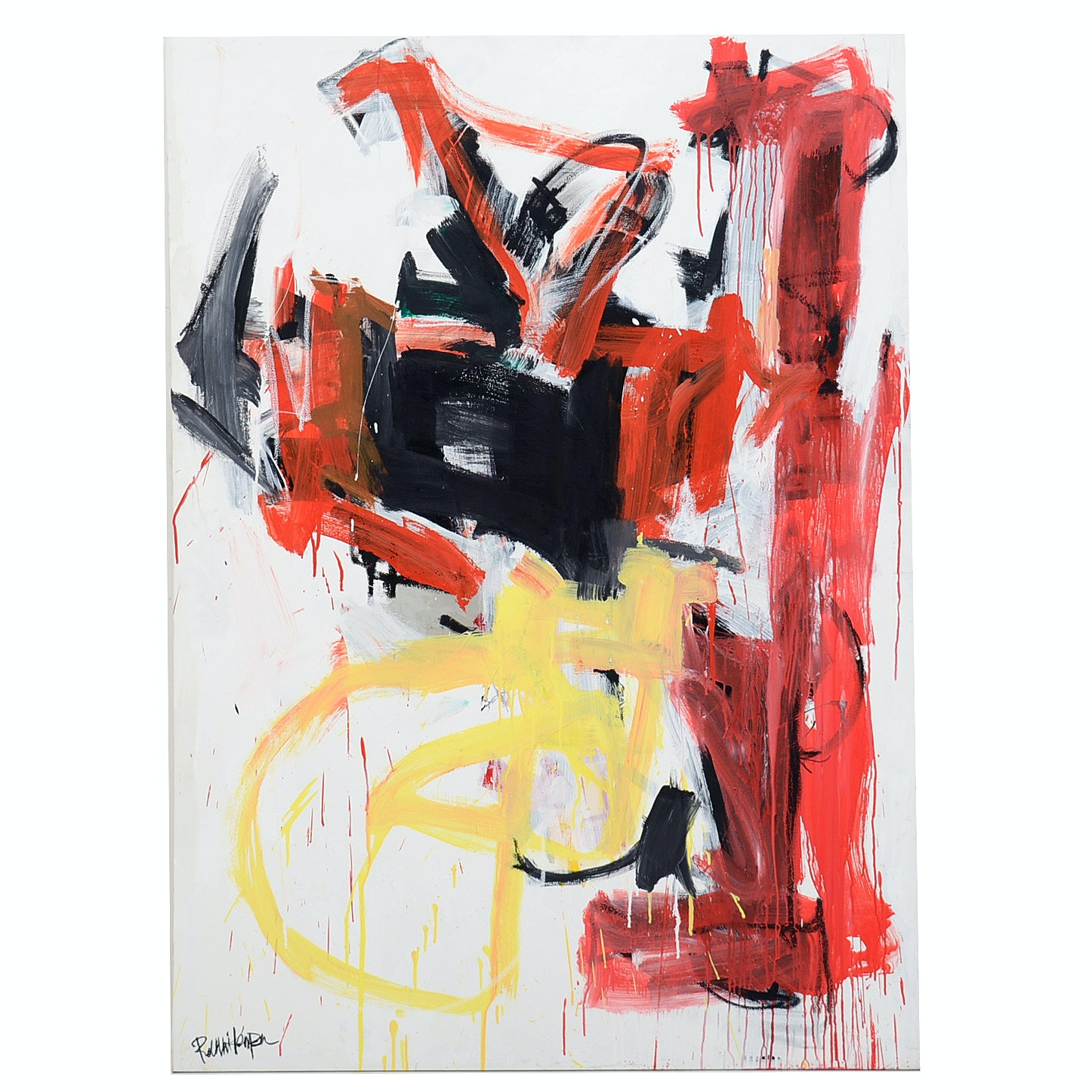 Robbie Kemper Abstract Acrylic Painting on Canvas