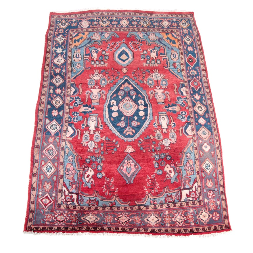 Hand Knotted Persian Wool Area Rug Ebth: Hand-Knotted Persian Bakshaish Area Rug : EBTH