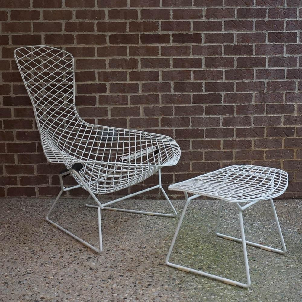 """Harry Bertoia """"Bird"""" Chair and Ottoman Frames"""