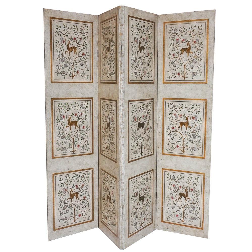 Vintage Four Panel Room Divider