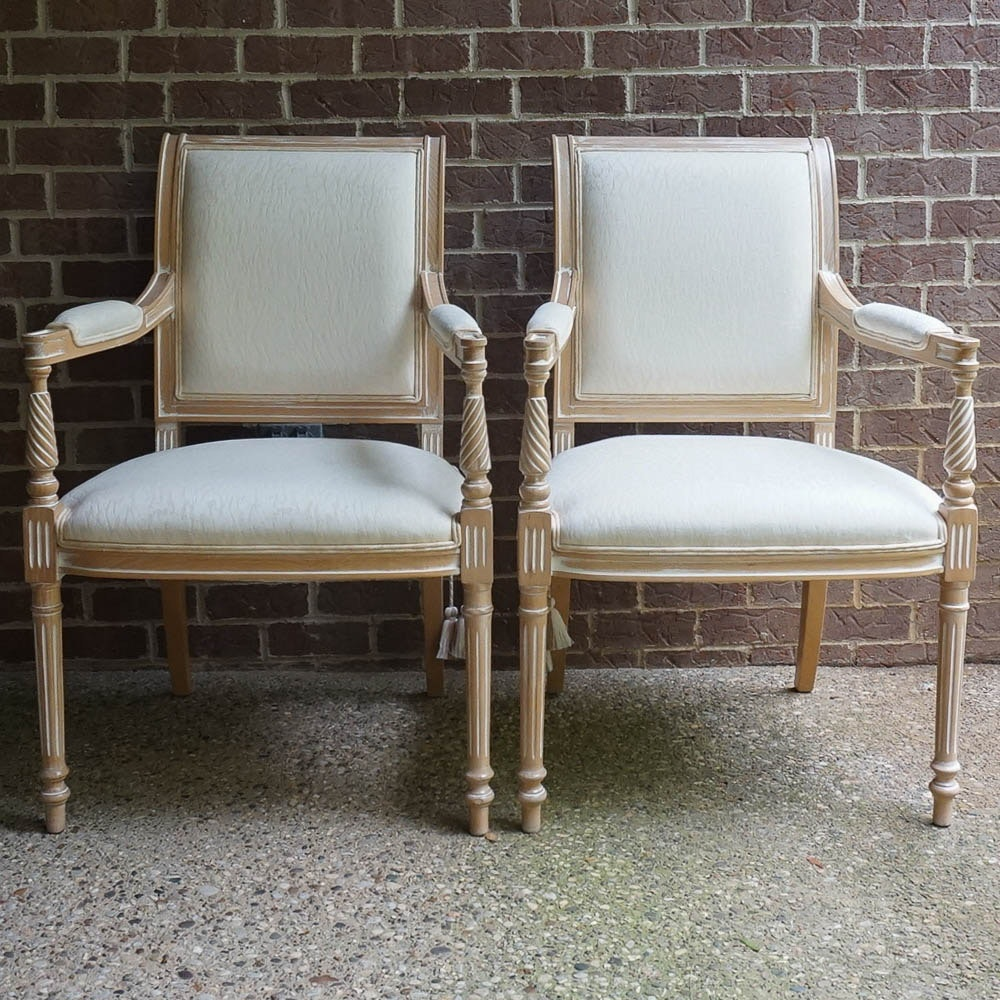 Pair of Louis XVI Style Armchairs by Comini Modonutti