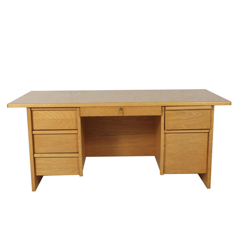 vintage office desk. simple vintage vintage doublepedestal office desk to c