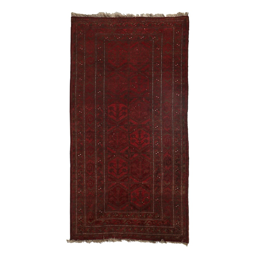 Semi Antique Finely Hand Knotted Turkmen Ersari Wool Area
