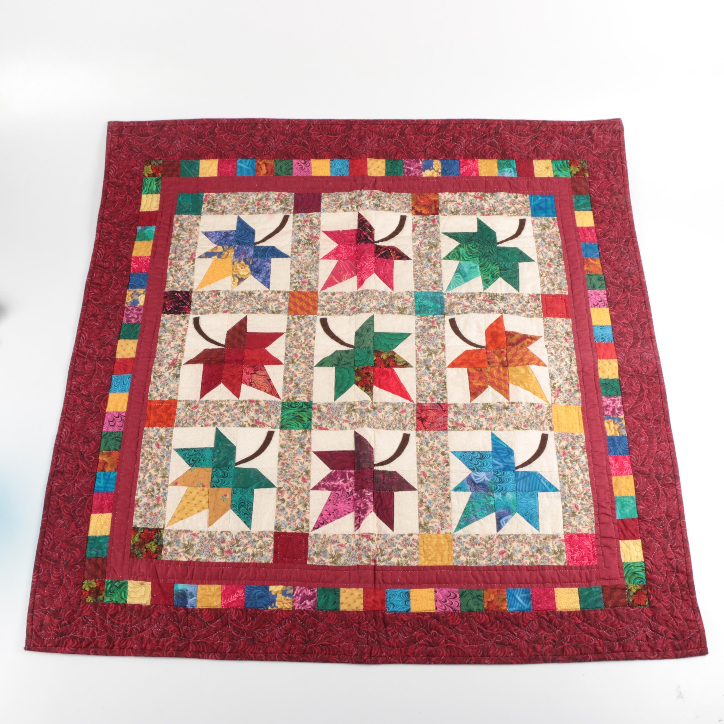 Maple Leaf Pattern Quilted Wall Hanging