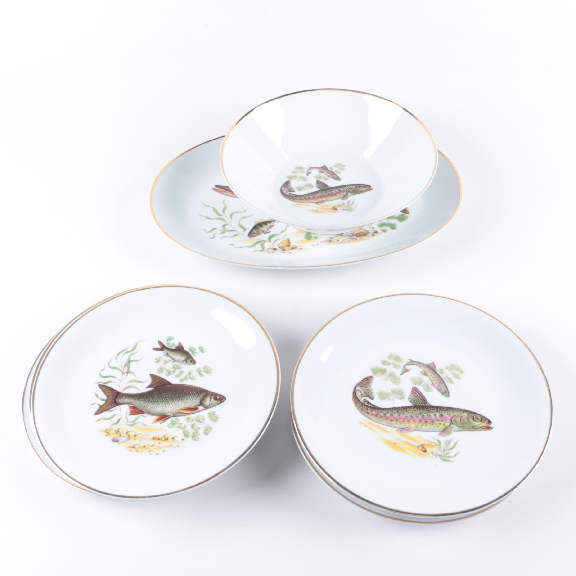 Hutschenreuther \ Fish\  Plates ...  sc 1 st  EBTH.com & Hutschenreuther \