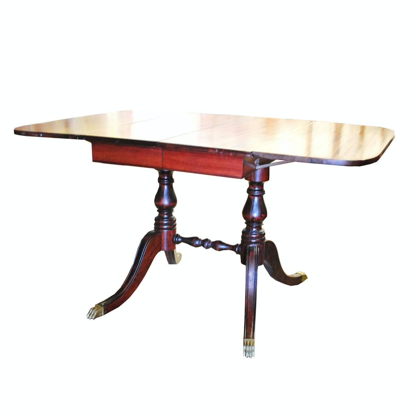 Mahogany Regency Style Dining Room Table