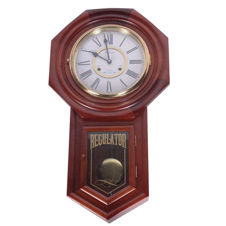 Waltham 31 Day Chiming Regulator Wall Clock Ebth