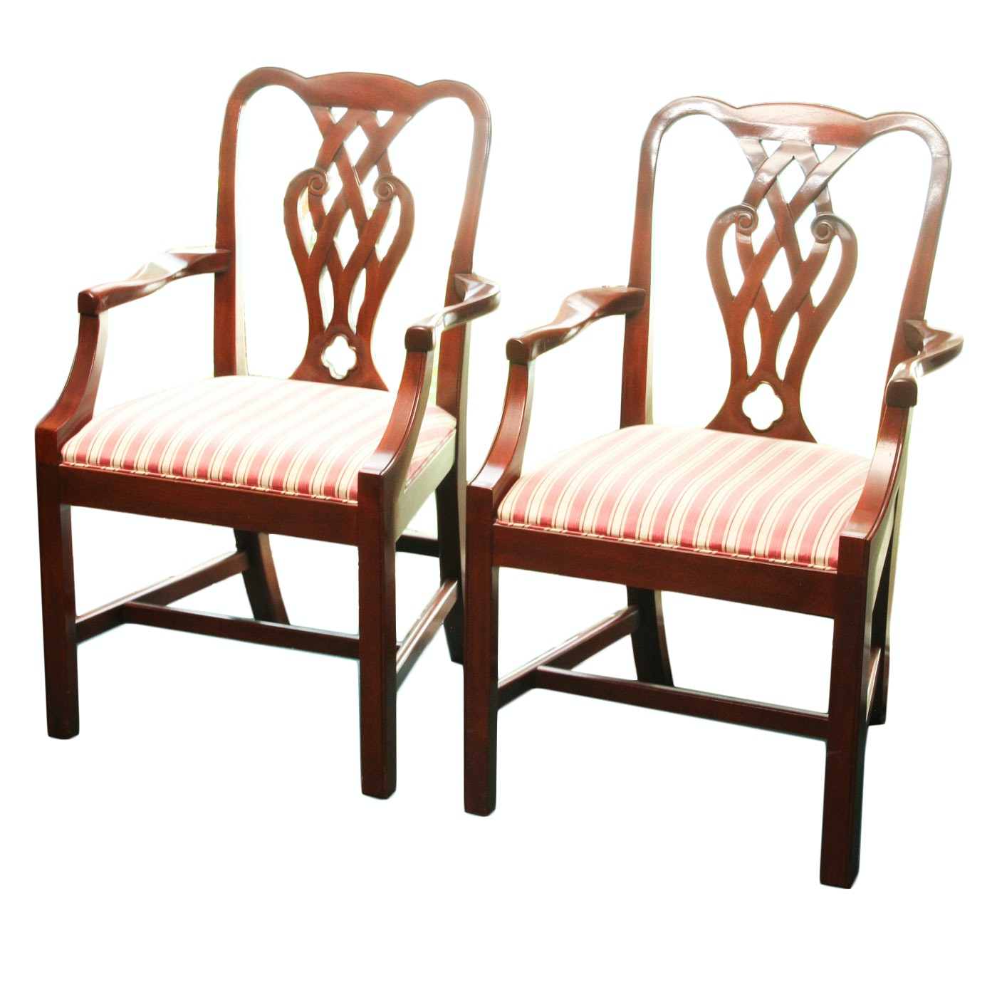 Chinese Chippendale Style Chair Pair by Baker Furniture
