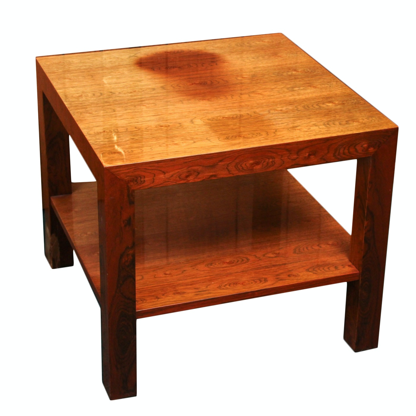 Veneered Parsons Style End Table