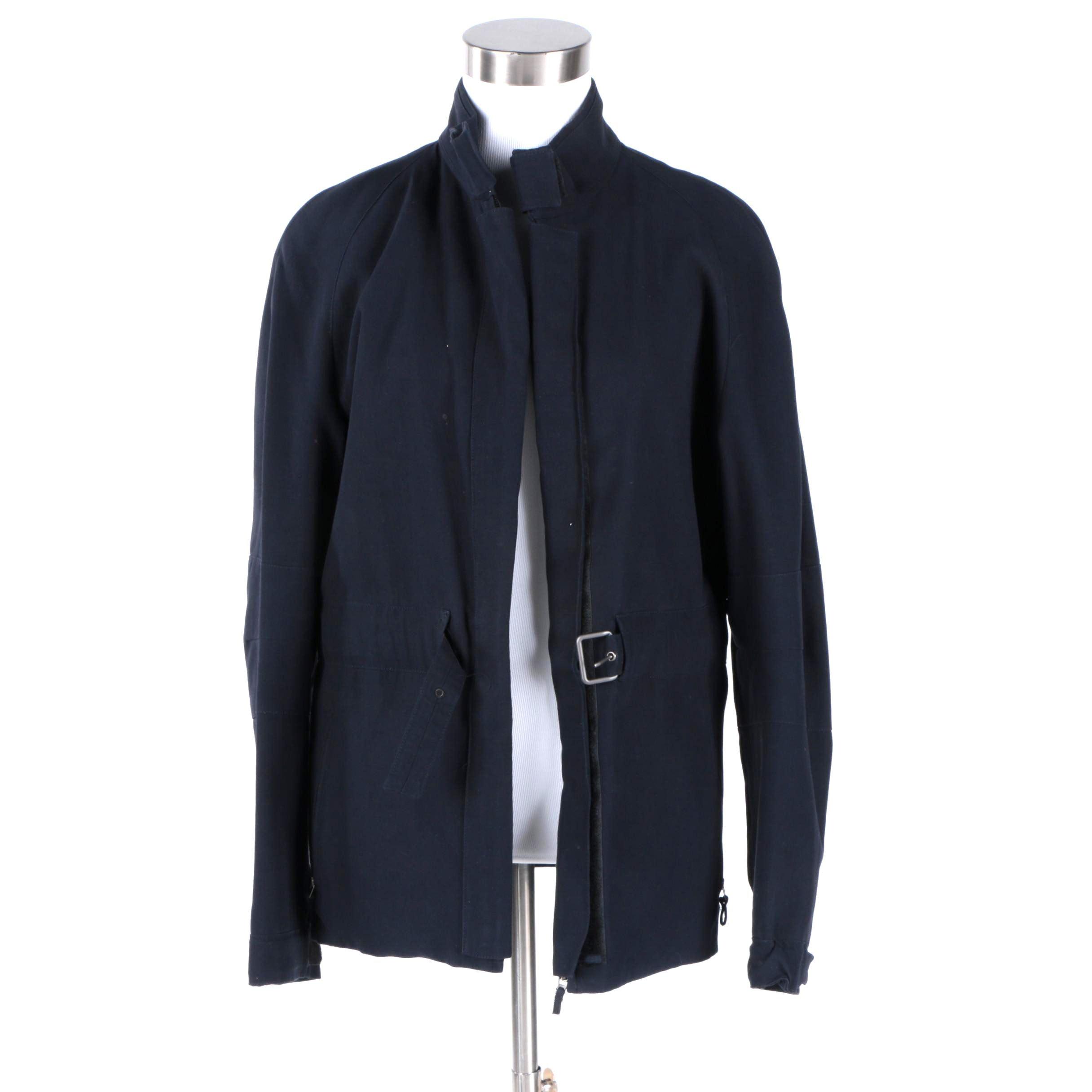 Women's Burberry Prorsum Navy Cotton Jacket