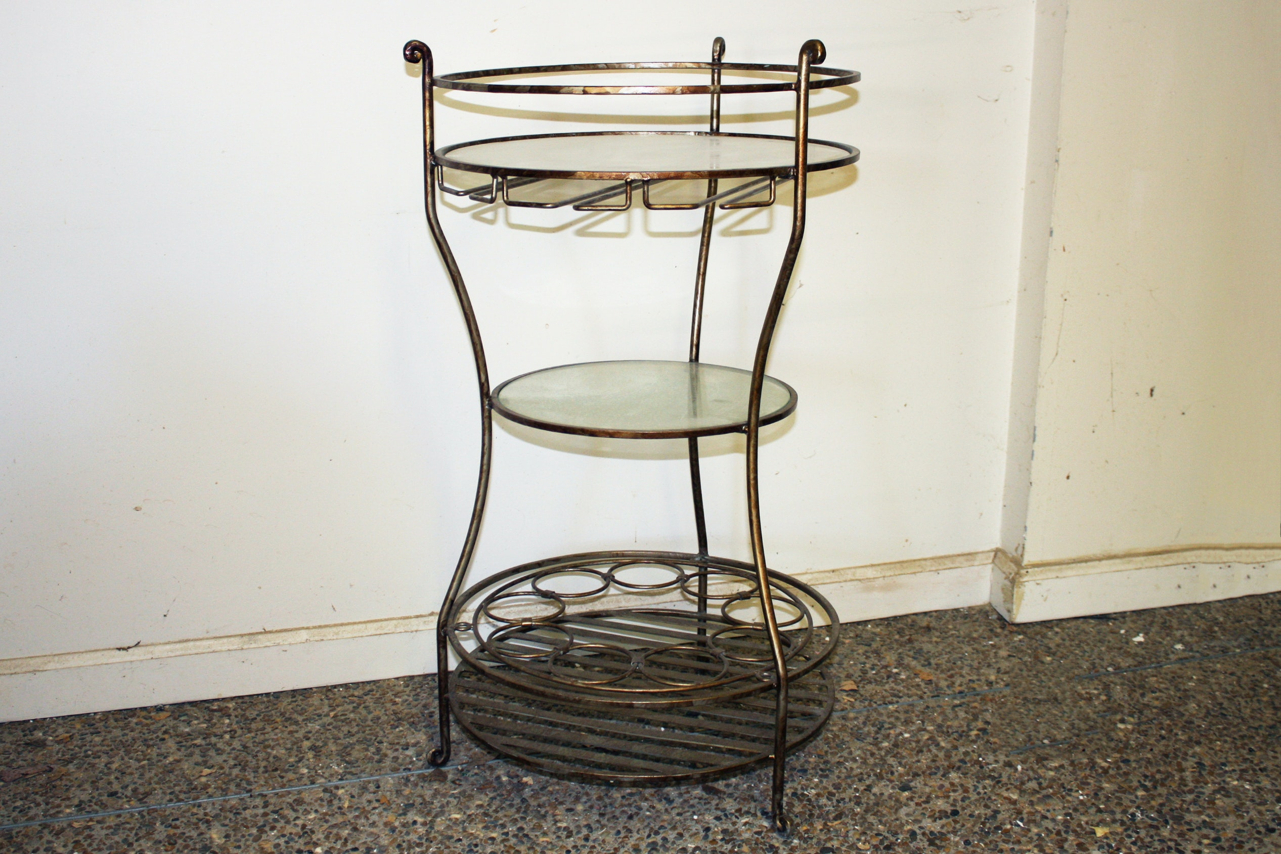 Vintage Metal Side Table