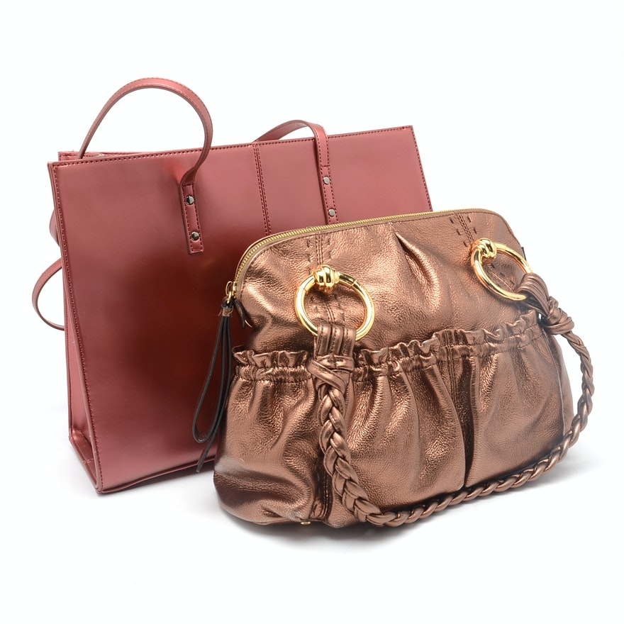 B Makowsky Handbag And Wilson Leather Tote Bag