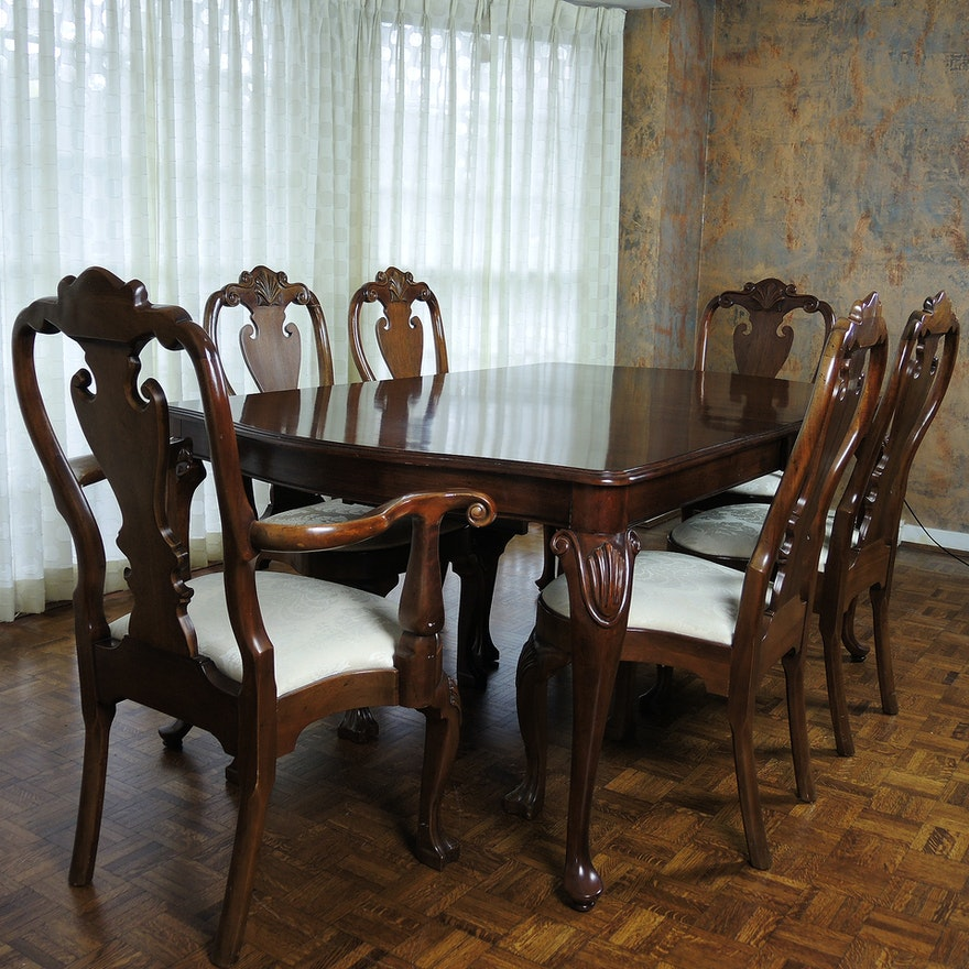 Chippendale Style Extension Dining Table And Chairs By Kincaid Furniture EBTH