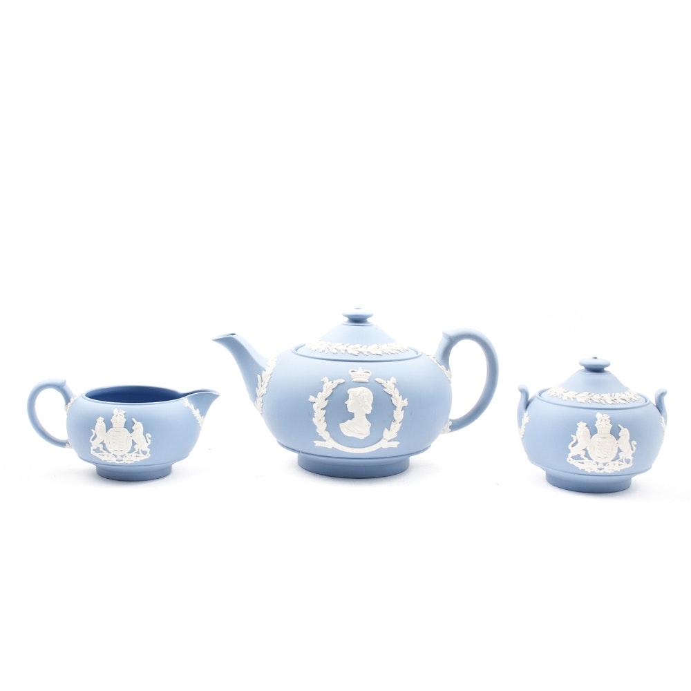 Coronation Wedgwood Jasperware Tea Set