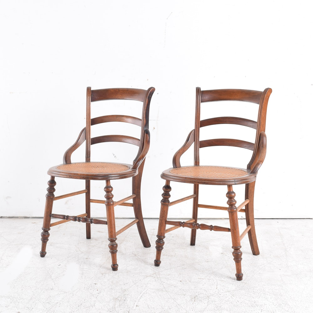 Ladder Back and Cane Seat Chairs