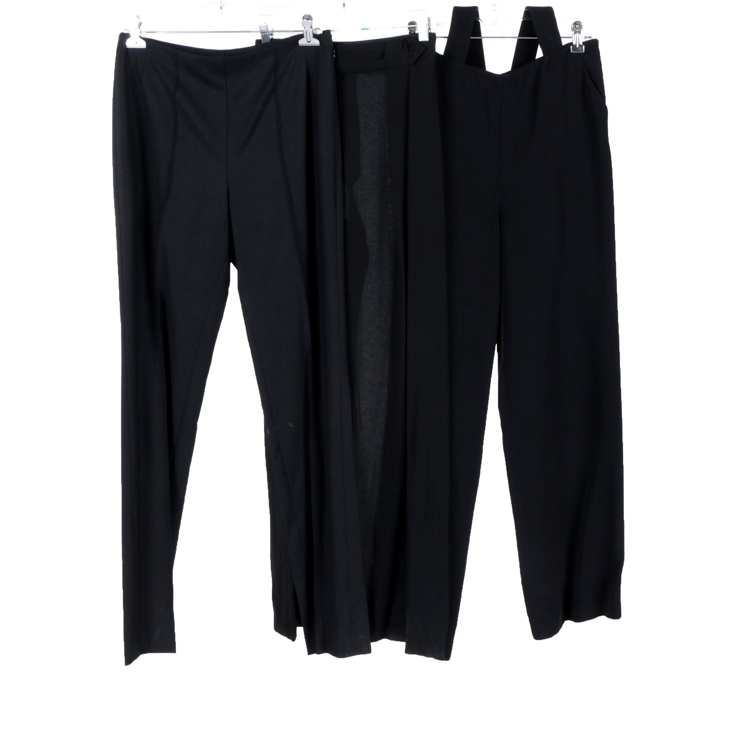 Women's Cardinali, Giorgio Armani and Akris Black Pants