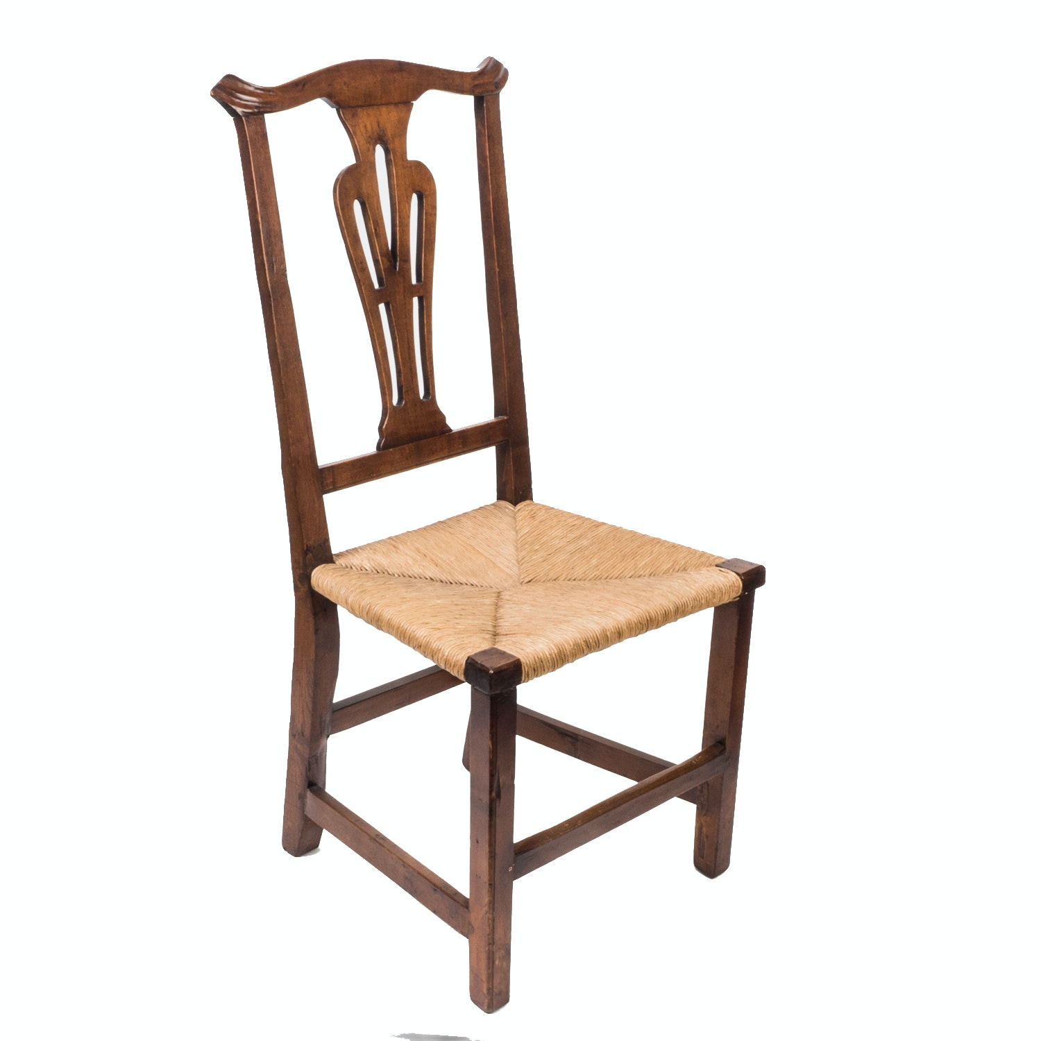 Antique Colonial Chippendale Side Chair