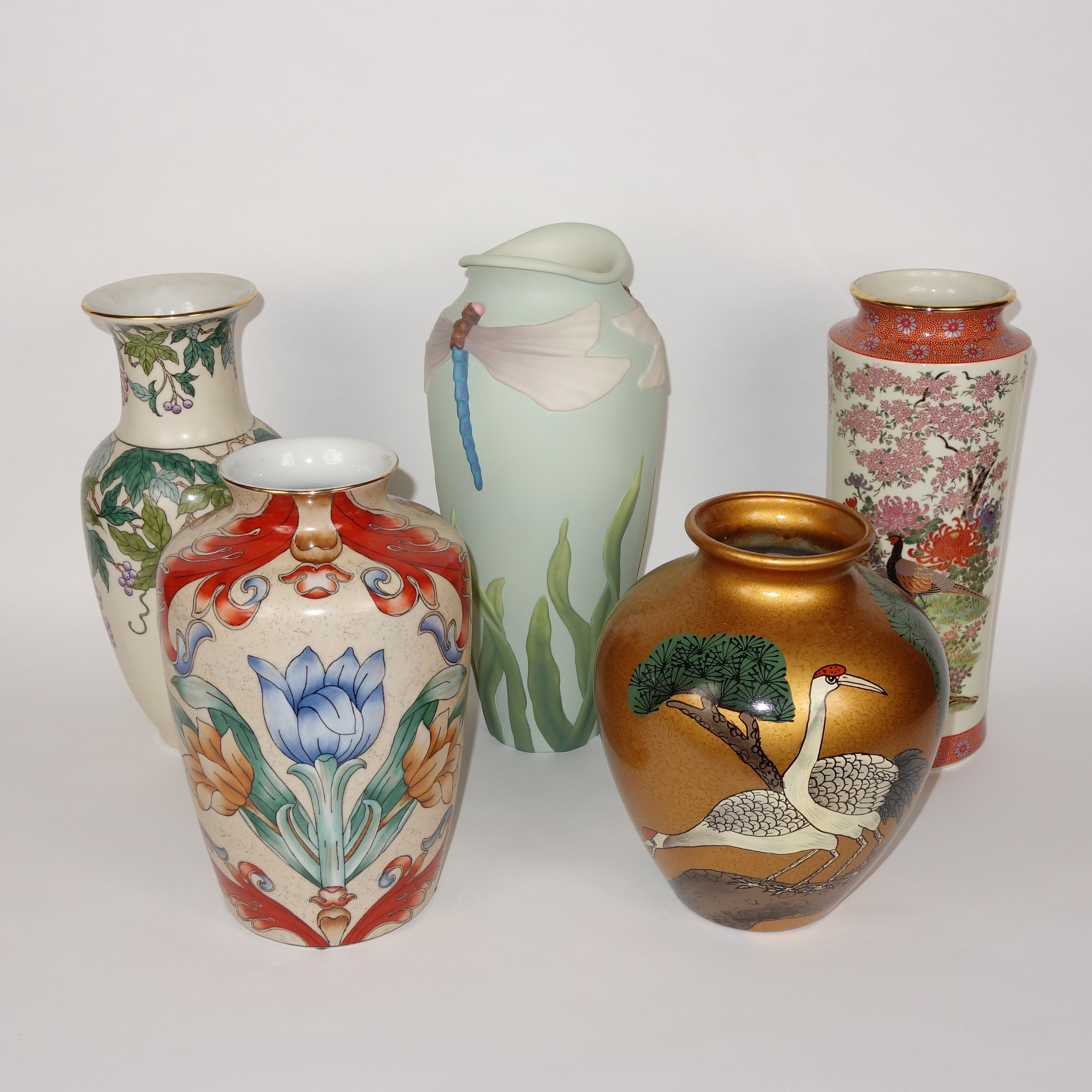 Asian Inspired Porcelain Vases