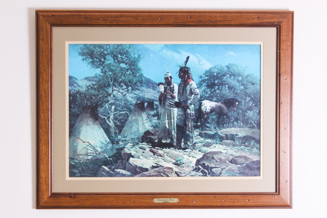 "Robert Summers 1979 Limited Edition Offset Lithograph ""Comanche Moon"""