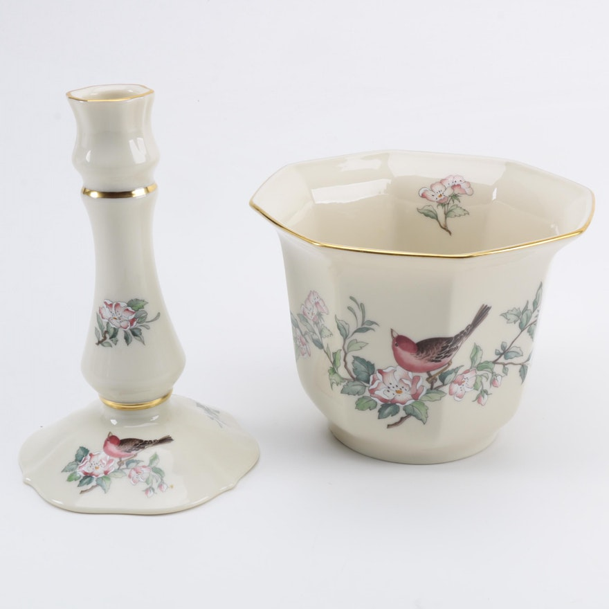 Lenox Serenade Vase And Candle Holder Ebth