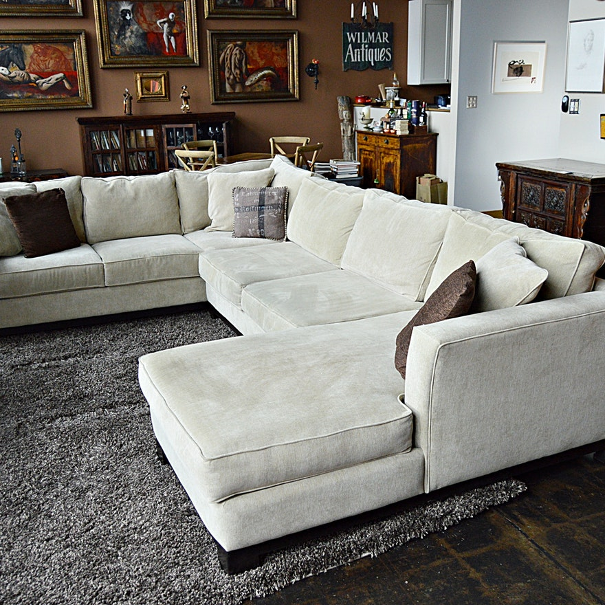 Jonathan Louis Upholstered Three Piece Sectional From Macy S Ebth