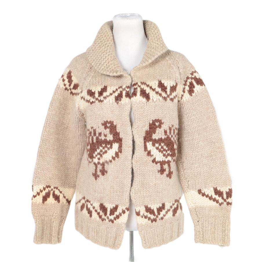 Sheep Knitting A Sweater : Sheep s thick wool hand knit sweater ebth