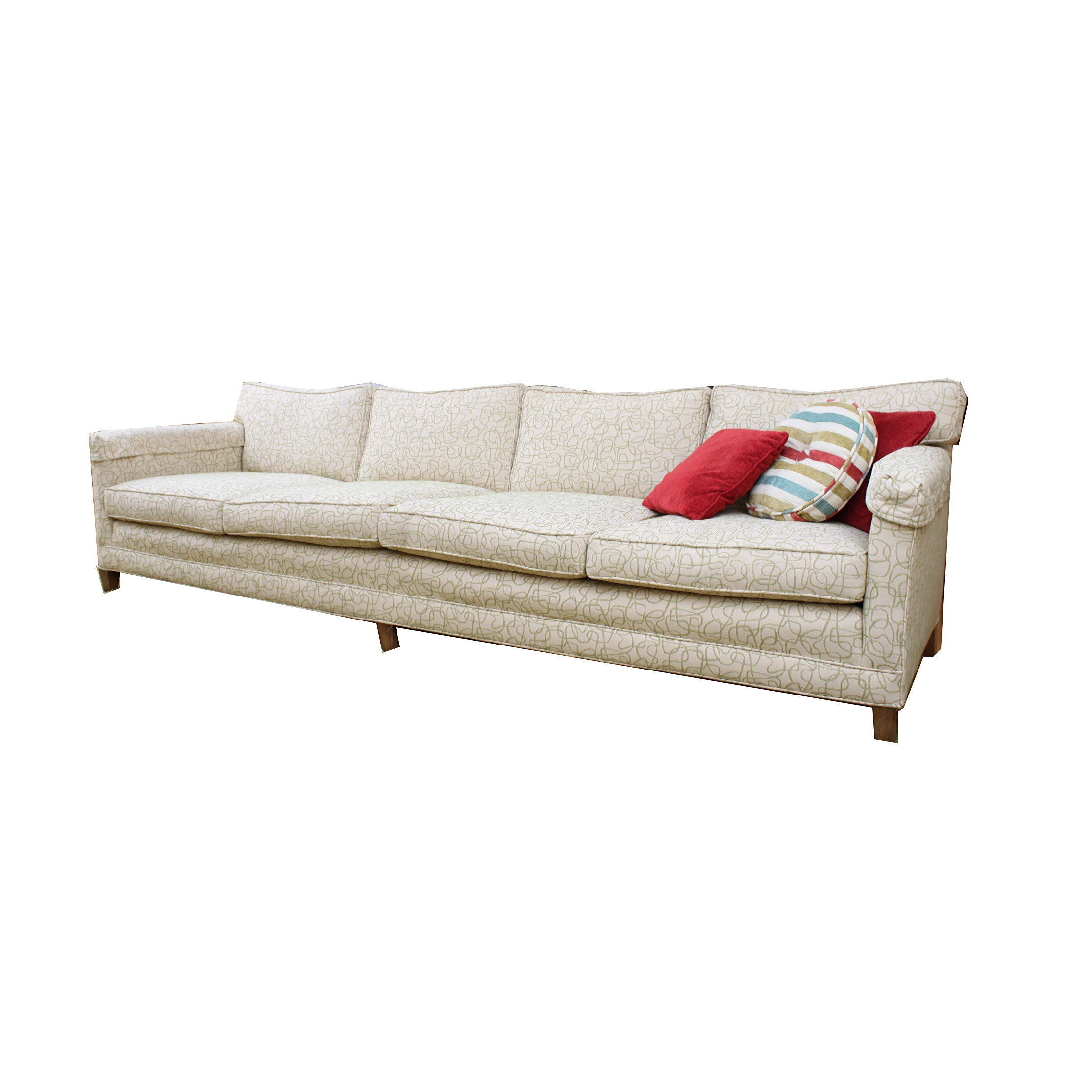 Mid Century Modern Style Upholstered Sofa