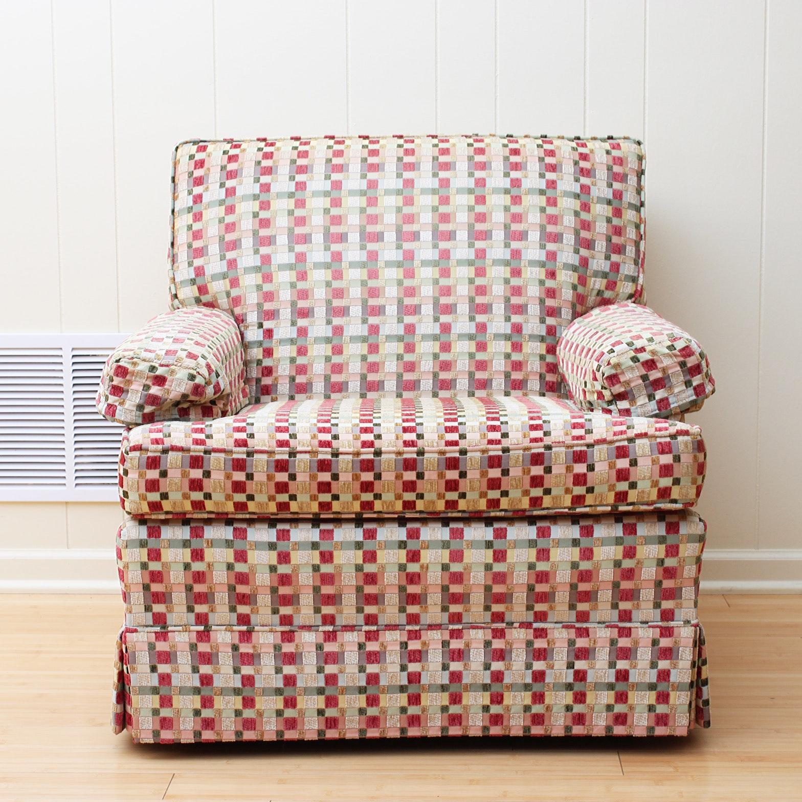 Vintage Mid-Century Upholstered Armchair