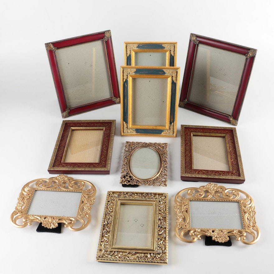 Collection of table top picture frames featuring the for How to display picture frames on a table