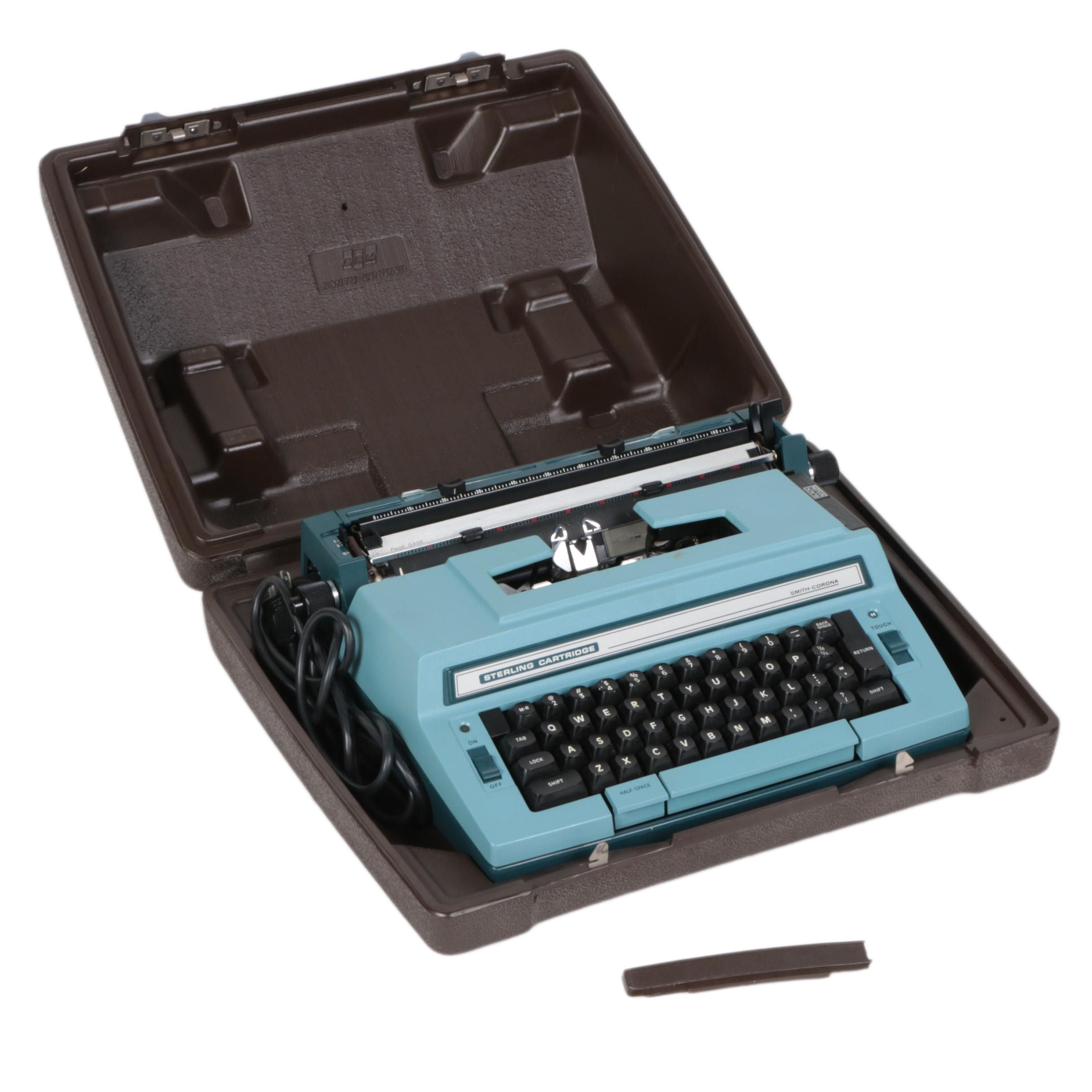 Smith Corona Sterling Cartridge Typewriter with Case