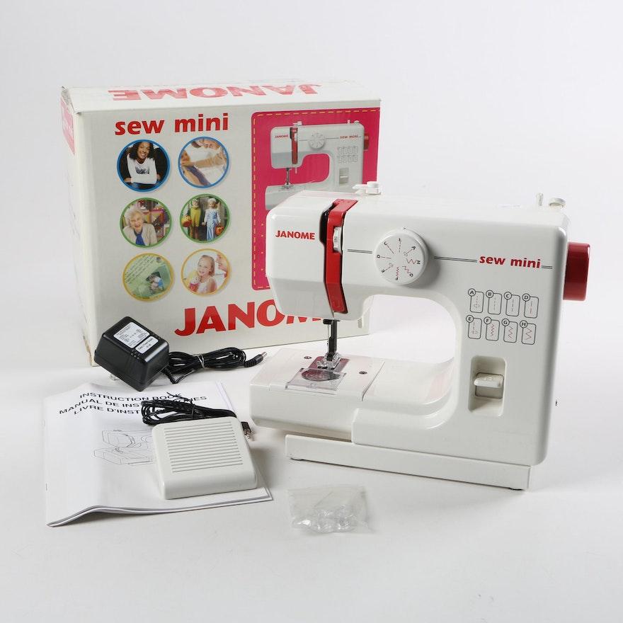 Janome Mini Sew Machine EBTH Classy Janome Mini Sewing Machine