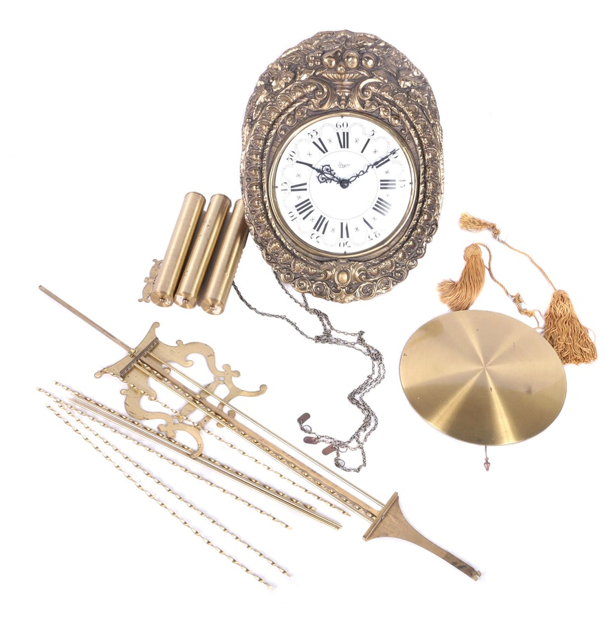 Vintage urgos weight driven pendulum wall clock ebth vintage urgos weight driven pendulum wall clock amipublicfo Choice Image