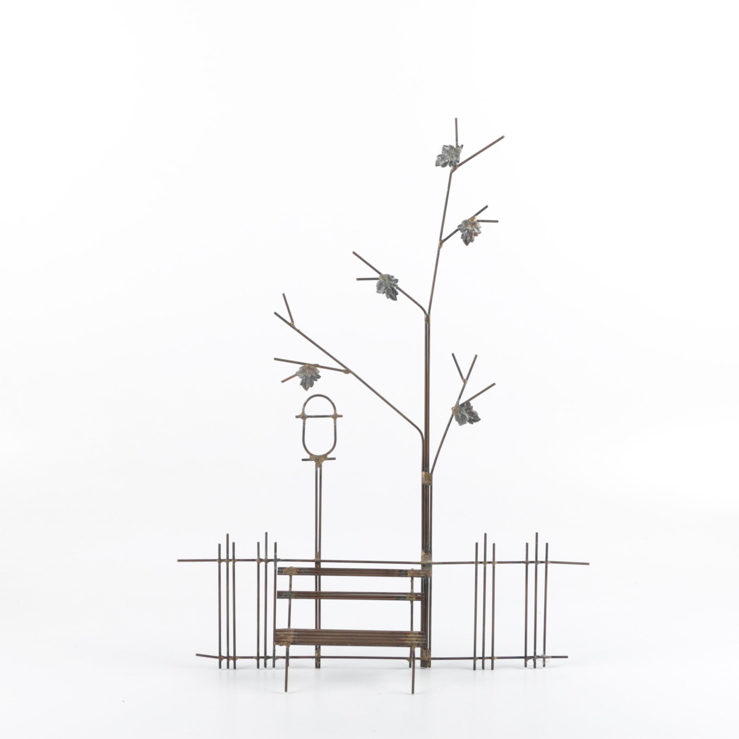 Metal Bus Stop Figurine