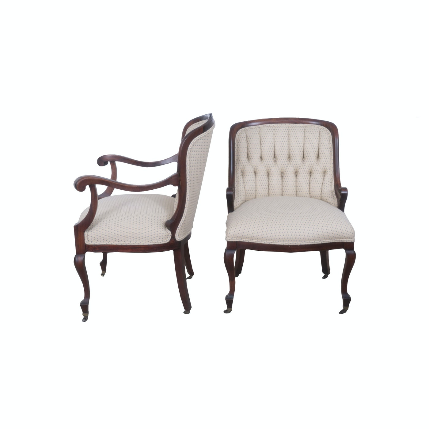 Regency style mahogany upholstered chairs ebth for Styles of upholstered chairs