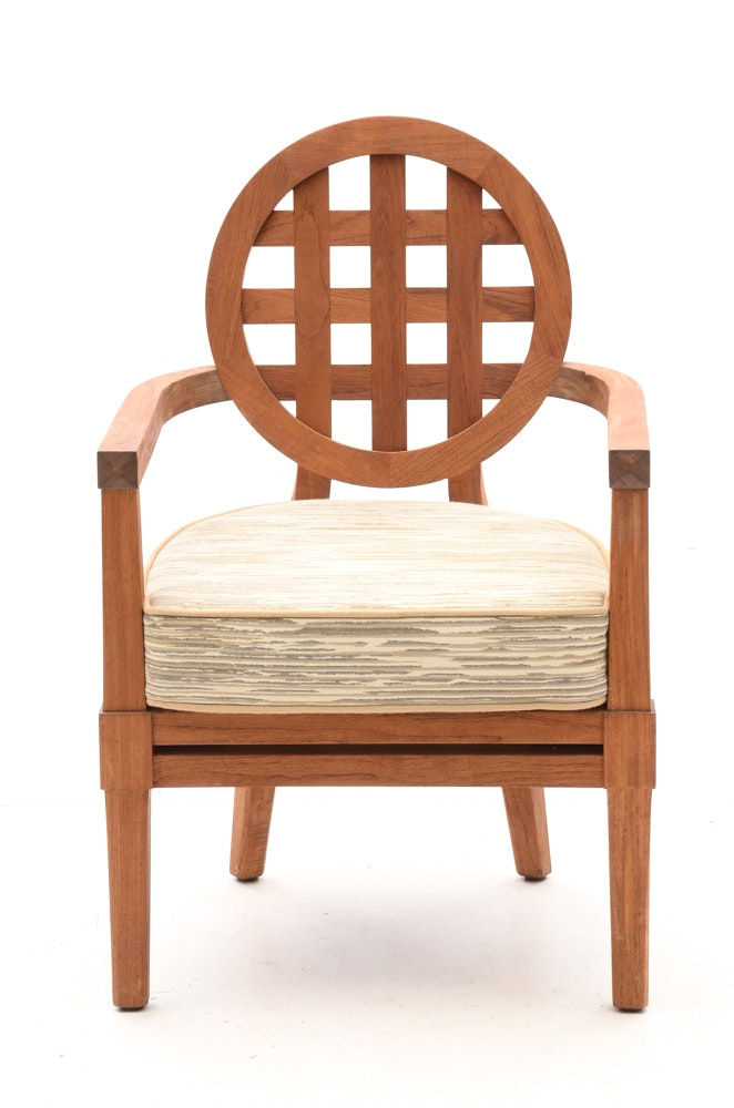 Solid Teak Wood Quot Portico Quot Patio Furniture By Mcguire Ebth