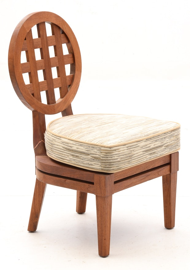 Solid Teak Wood Portico Patio Furniture By Mcguire Ebth