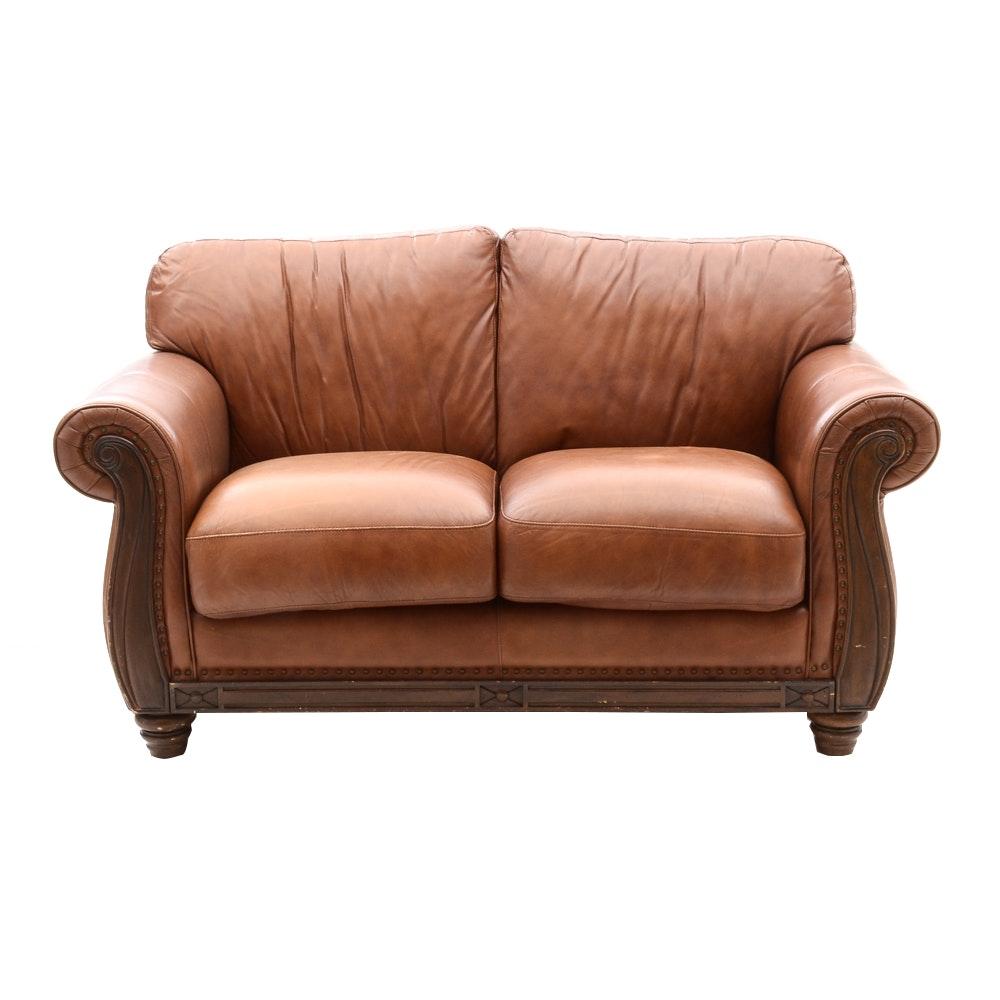 Robinson Robinson Leather Loveseat Ebth