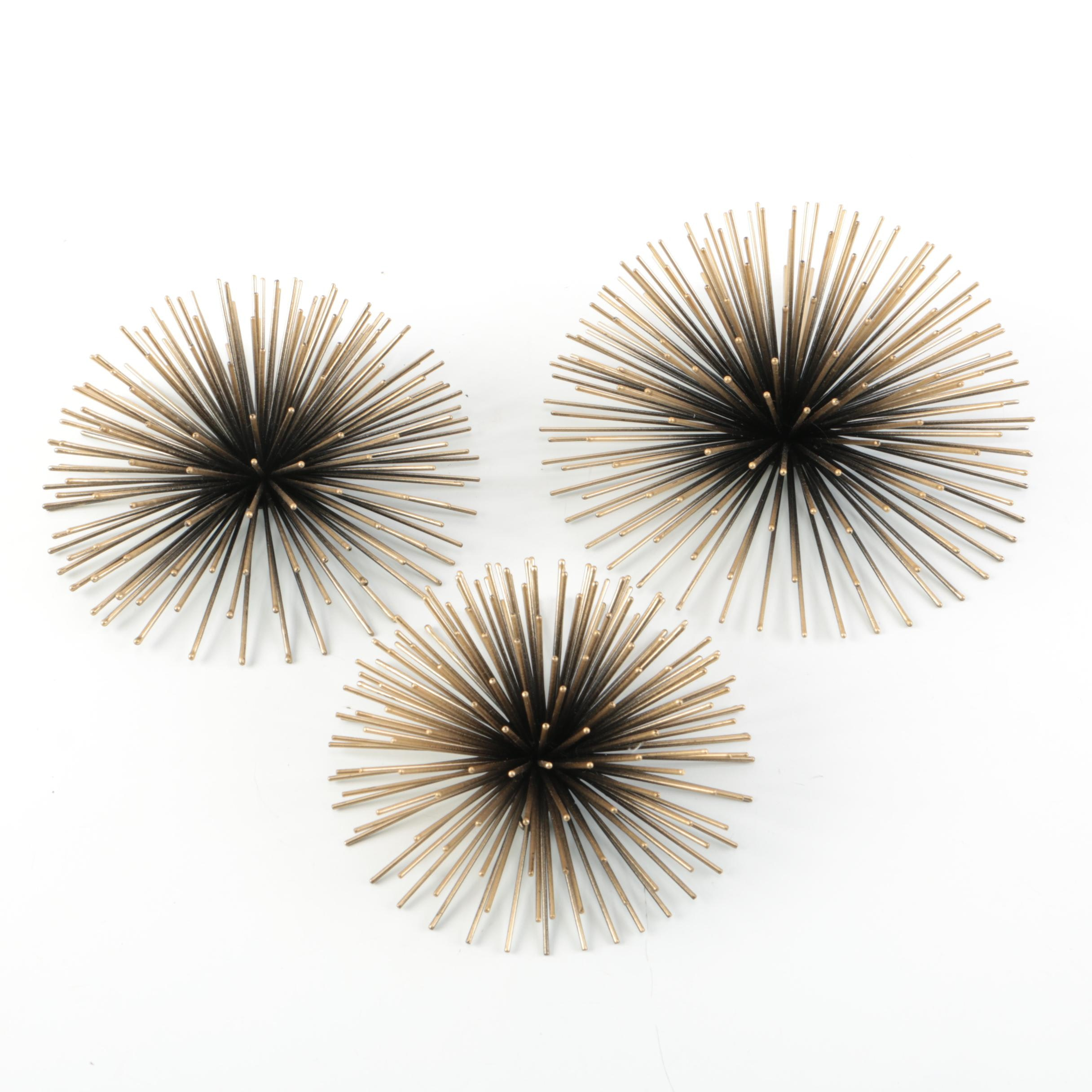 Gold-Toned Starburst Wall Sculpture