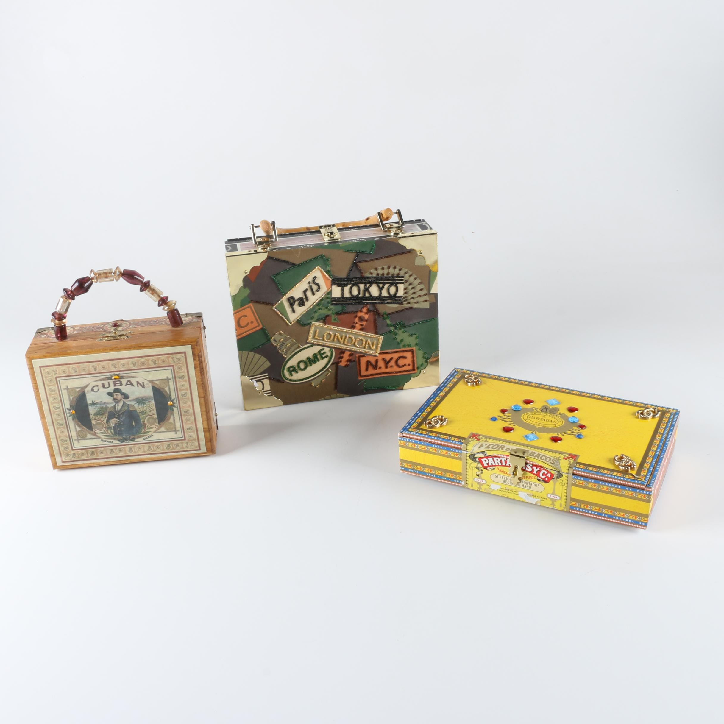 Decorative Cigar Box Purses