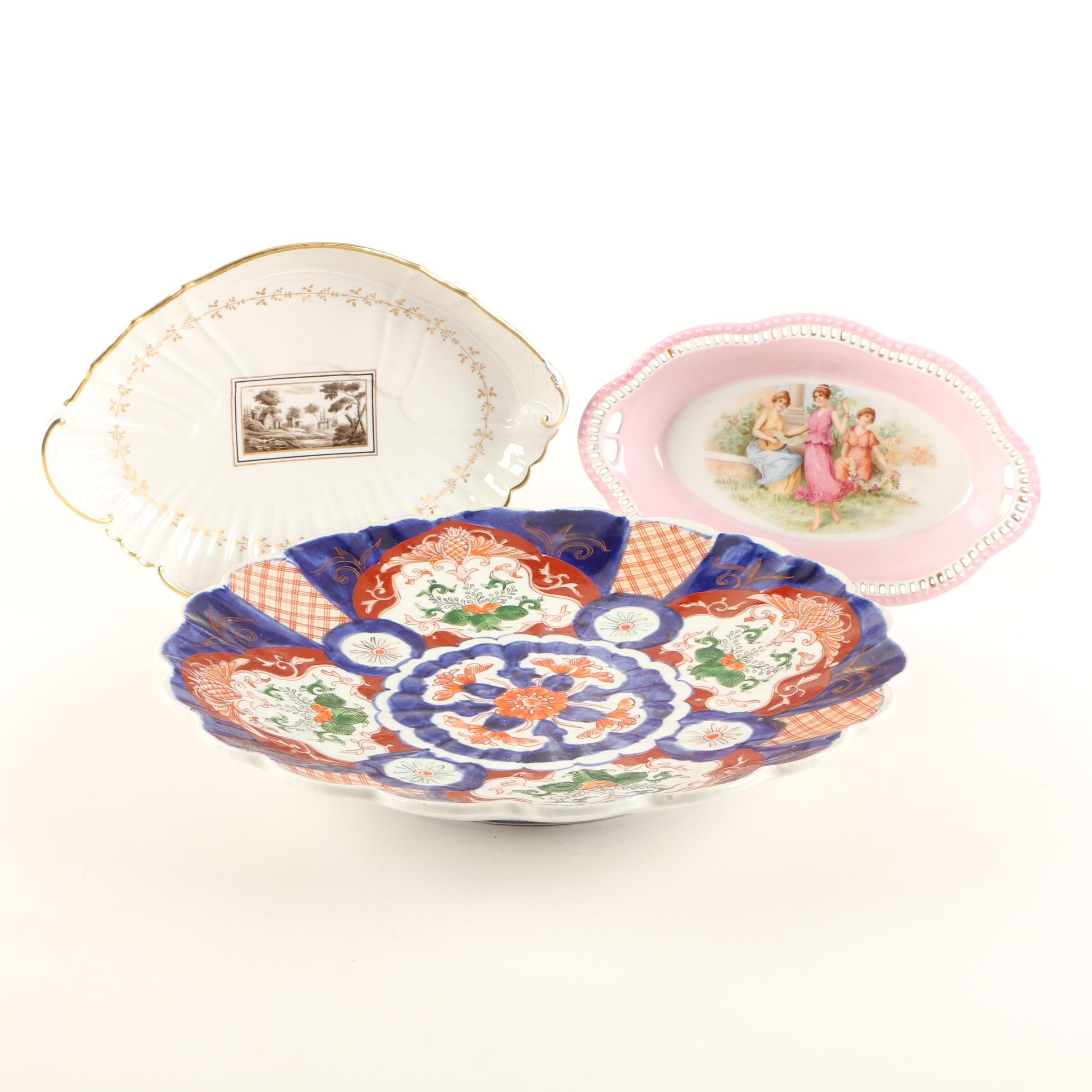 Antique Imari and Richard Ginori Serving Platters