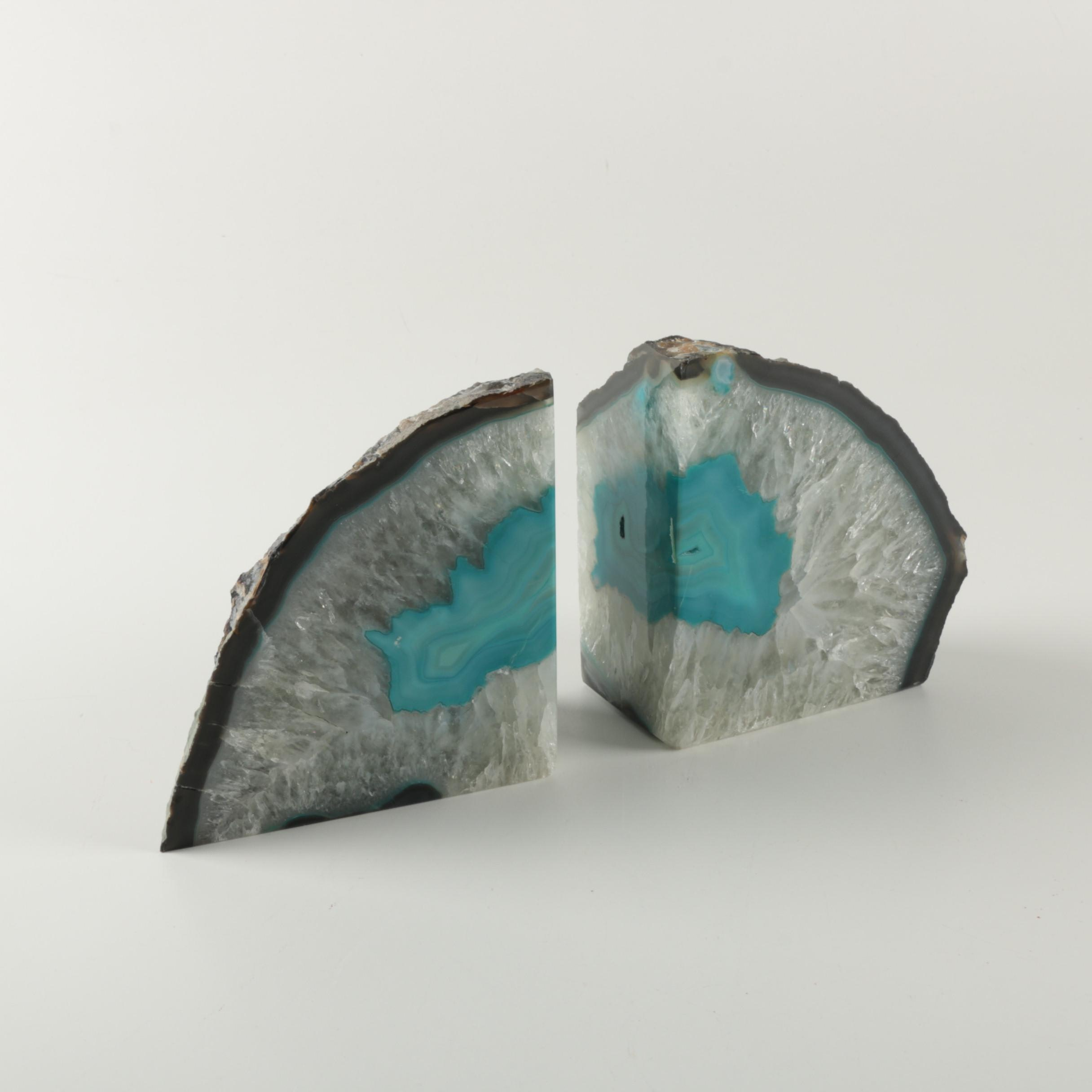 Dyed Geode Bookends