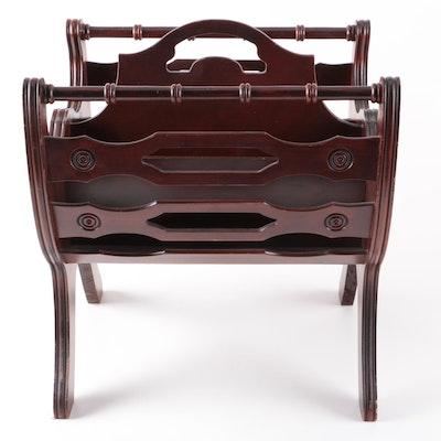 Vintage Federal Style Magazine Rack - Online Furniture Auctions Vintage Furniture Auction Antique