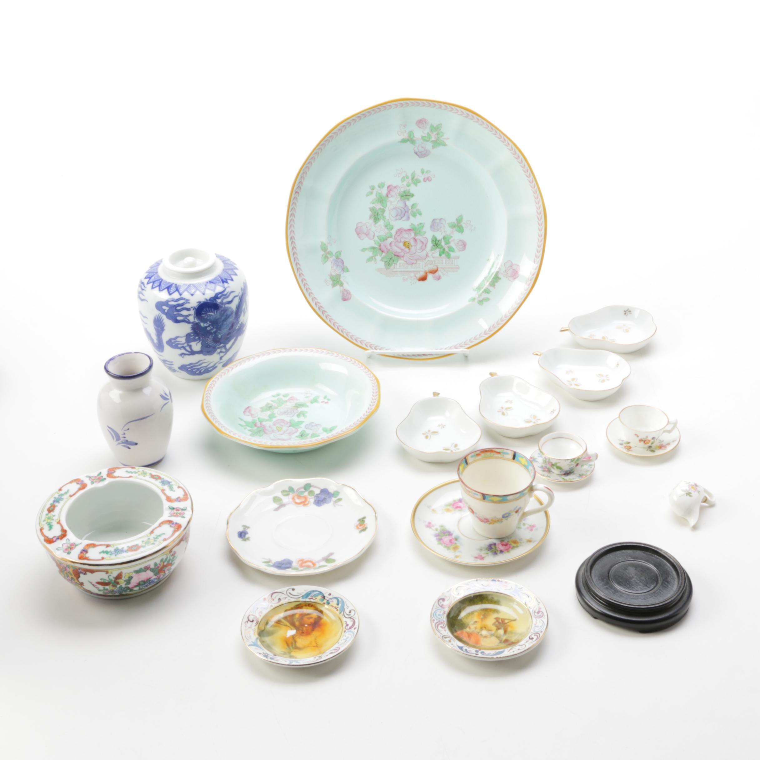 "Ceramic Decor including ""Metz"" by Adams China"
