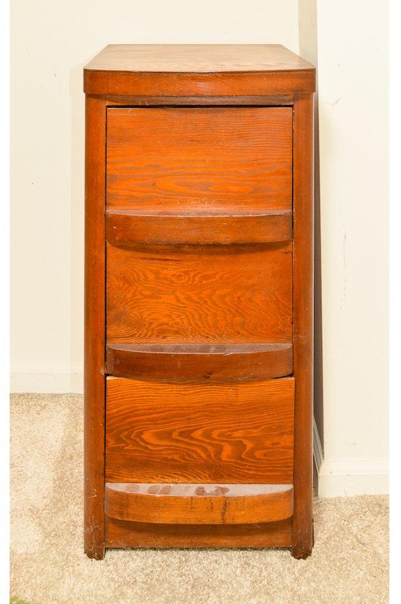 Vintage art deco style filing cabinet ebth - Deco vintage chic ...