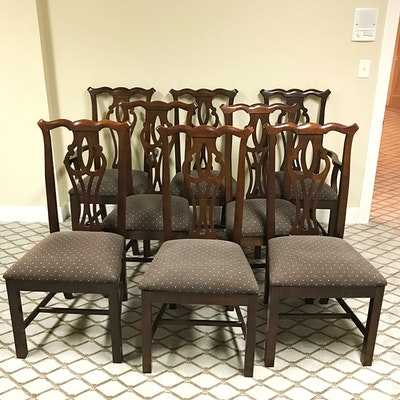 Set Of Eight Chippendale Style Side Chairs